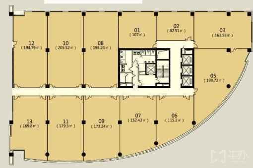 高和蓝峰大厦 173.2㎡ 房源图片